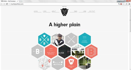 this website put some of its design work in hexagons instead of the