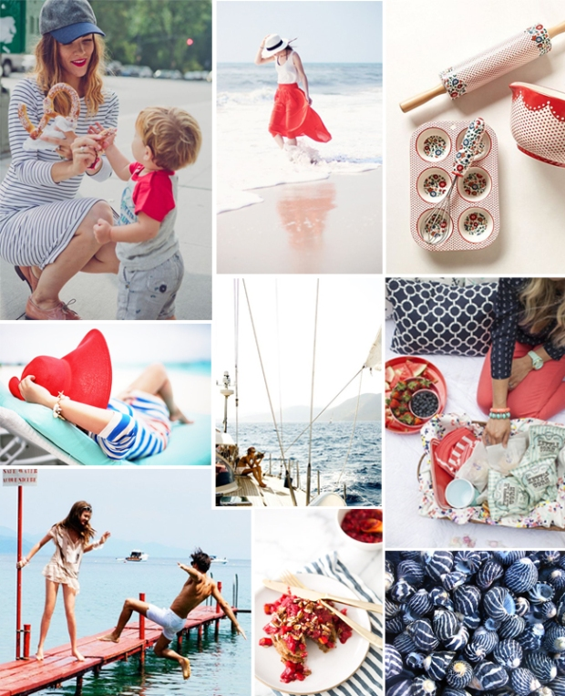 Summery Inspiration Board // blog.leahsprague.com