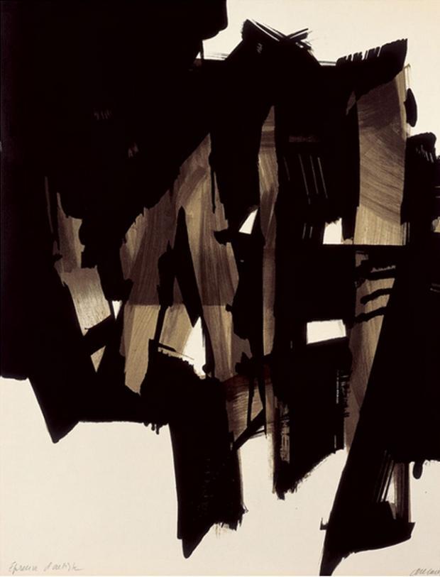Pierre Soulages 'Lithographie n°15, 1964' // blog.leahsprague.com
